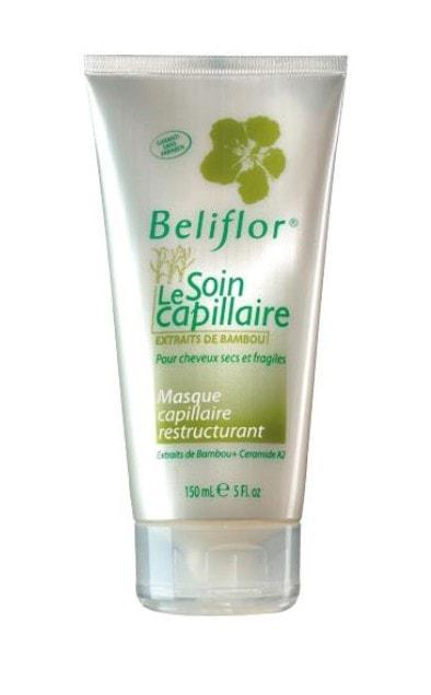 beliflor masque aux extraits de bambou pour cheveux secs shampoing naturels aux plantes. Black Bedroom Furniture Sets. Home Design Ideas