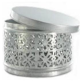 Tade boite en zinc ajour e haute portes savon et for Boite porte savon